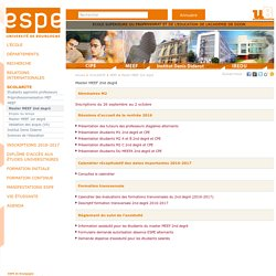 Master MEEF 2nd degré - ESPE (Ecole Supérieure du Professorat et de l'Education) - uB, Dijon