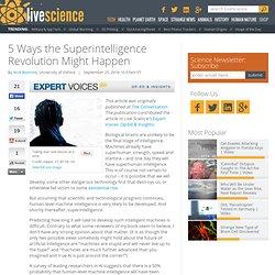 Cinq façons la Révolution Superintelligence peut arriver