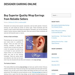 Buy Superior Quality Wrap Earrings from Reliable Sellers