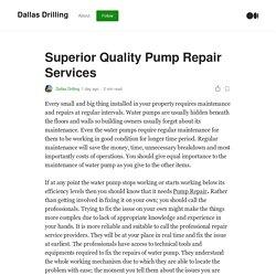 Superior Quality Pump Repair Services