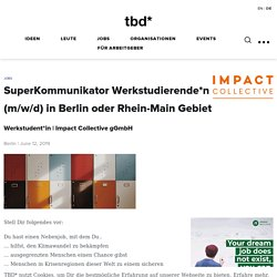 Impact Collective gGmbH sucht SuperKommunikator Werkstudierende*n (m/w/d)