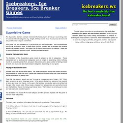 Superlative Game - Icebreaker games collection