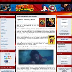 Superman Homepage - Other Miscellaneous Superman Stuff