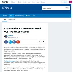 2016 - Research Task Supermarket E-Commerce: Here Comes Aldi!