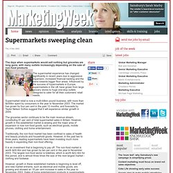 Supermarkets sweeping clean