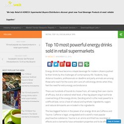 Top 10 most powerful energy drinks sold in retail supermarkets - Socialwalk Food Beverage Product Marketing