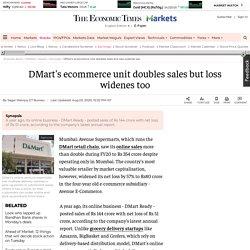 Avenue Supermarts Ltd.: DMart's ecommerce unit doubles sales but loss widenes too