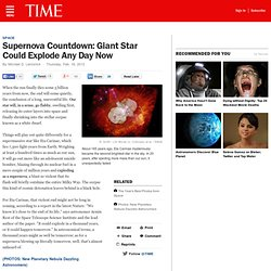 Supernova Blast: Giant Star Eta Carinae to Explode Any Day