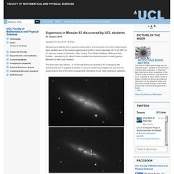 Supernova in Messier 82 discovered by UCL students
