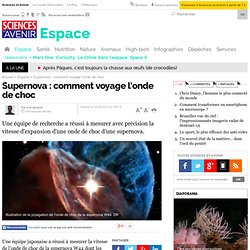 Supernova : comment voyage l'onde de choc