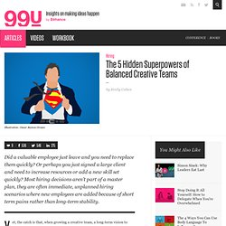 The 5 Hidden Superpowers of Balanced Creative Teams