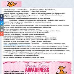SCIENCES DE GESTION - Programme et cours - SuperProfesseur.com : spécialiste du soutien scolaire, des cours particuliers, du coaching et de la formation professionnelle