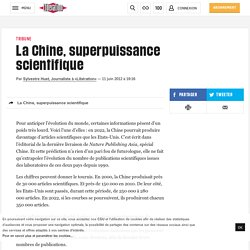La Chine, superpuissance scientifique