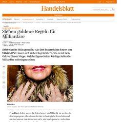 Superreichen-Report: Sieben goldene Regeln für Milliardäre - Finanzen