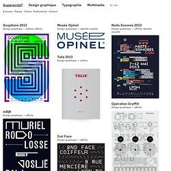 Superscript² / design graphique + multimédia + typographie