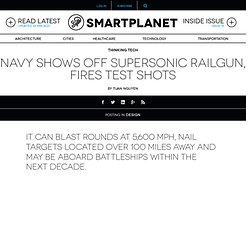 Navy shows off supersonic railgun, fires test shots