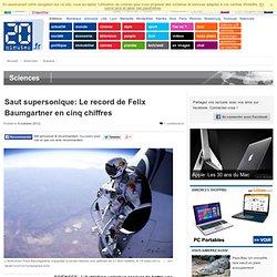 Saut supersonique: Le record de Felix Baumgartner en cinq chiffres