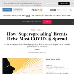 How 'Superspreading' Events Drive Most COVID-19 Spread