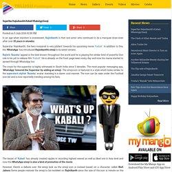 SuperStar Rajinikanth's Kabali WhatsApp Emoji