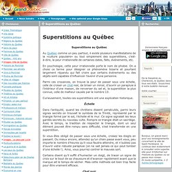 Superstitions au Québec