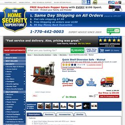 The Home Security Superstore - Quick Shelf Diversion Safe - Walnut by QuickSafes - QS24WN - Home Security Solutions