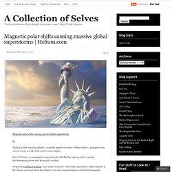Magnétique provoquant des changements polaires massive superstorms mondiale