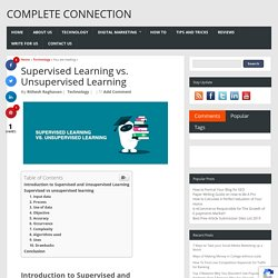 Supervised Learning vs. Unsupervised Learning