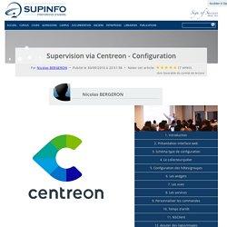 Supervision via Centreon - Configuration