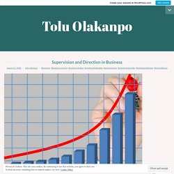 Supervision and Direction inBusiness – Tolu Olakanpo