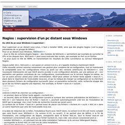 Nagios : supervision d'un pc distant sous Windows « e-Caria