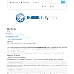 Supervision - Installation Nagios - DEV Tranquil IT