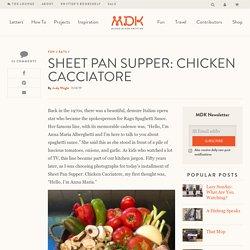 Sheet Pan Supper: Chicken Cacciatore