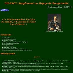 Supplément au Voyage de Bougainville - DIDEROT