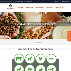 Animal Feed Supplement Manufacturer in India