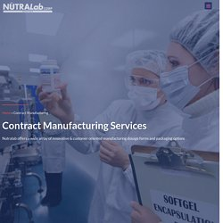 Health Supplement Contract Manufacturing