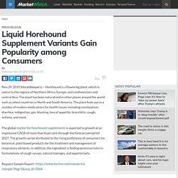 Liquid Horehound Supplement Variants Gain Popularity among Consumers