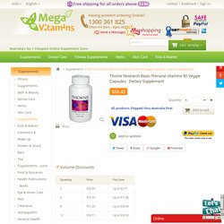 Buy Thorne basic prenatal Dietary Supplement in Australia
