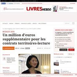 Un million d'euros supplémentaire pour les contrats territoires-lecture