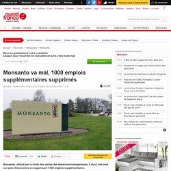 Monsanto va mal, 1000 emplois supplémentaires supprimés
