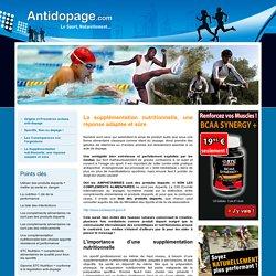 La supplémentation nutritionnelle - Antidopage.com