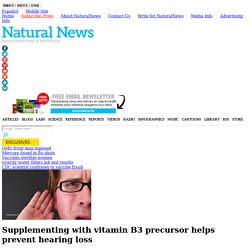 Supplementing with vitamin B3 precursor helps prevent hearing loss