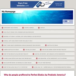 Perfect Biotics Probiotic America