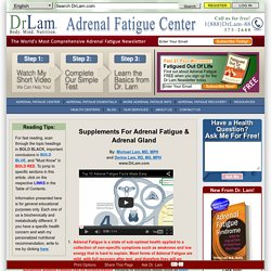 Top 10 Adrenal Fatigue Facts Made Easy