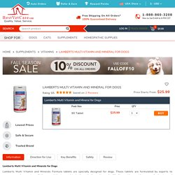 Lamberts Multi Vitamin and Mineral for Dogs for Supplements: Buy Lamberts Multi Vitamin and Mineral for Dogs for Supplements at lowest Price - BestVetCare.com