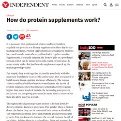How do protein supplements work?