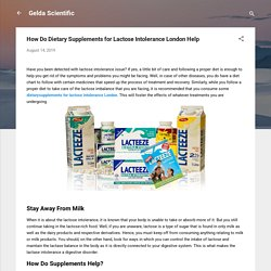 How Do Dietary Supplements for Lactose Intolerance London Help
