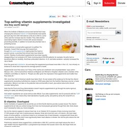 Top-selling vitamin supplements investigated