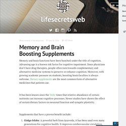 Memory and Brain Boosting Supplements – lifesecretsweb