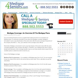 Medigap Coverage: An Overview Of The Medigap Plans