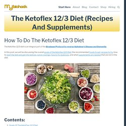 The Ketoflex 12/3 Diet (Recipes and Supplements) — MyBioHack